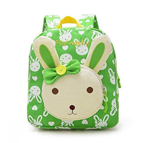Flyingsky Rabbit Animals Kids Book Backpack Baby Girls School Bag New Arrival (new green)