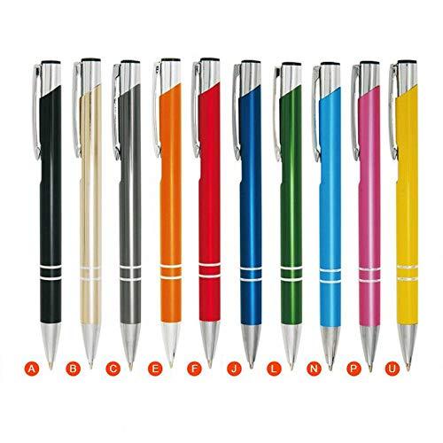 WPRO Kugelschreiber Set Cosima [10-Stück Packung] aus Metall, Hochwertig, Edel, Farbenmix
