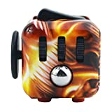Fidget Cubes Magicfly Angst Aufmerksamkeit Spielzeug, Zappelphilipp-Würfel lindert Stress und Angst und Entspannung für Kinder und Erwachsene Spielzeug 6 Seiten Stress Cube (Phönix)