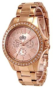 Elite Models' Fashion - E54354G-812 - Montre Femme - Quartz Analogique - Cadran Rose - Bracelet Acier Rose
