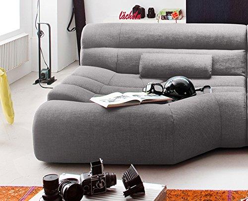XXL Sofa Tara Big Sofa Wohnlandschaft Stoff Hellgrau mit Kissen 292x75x148cm (B/H/T)