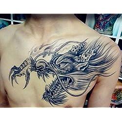 Arte Corporal Pegatinas Tatuaje removibles temporales Dragón Pegatina Tatuaje - ModaVida - FashionLife
