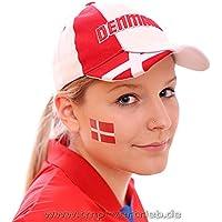 5 x Dänemark Tattoo Fan Fahnen Set - WM 2018 Denmark Temporary Tattoo Flag (5)