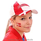 5 x Dänemark Tattoo Fan Fahnen Set - WM 2018 Denmark Temporary Tattoo Flag (5)
