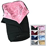 Infantastic Fleece Winterfußsack Universal Baby-Fußsack für Kinderwagen, Buggy, Babyschale & Auto-Kindersitz, schwarz