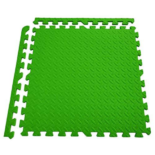 Generic Schutzmatten Set 6 Puzzlematten je 60 x 60 x 1,2 cm - Bodenschutzmatten   Unterlegmatten   Fitnessmatten für Bodenschutz   Rot/blau/grün/schwarz Wählbar (6 Stück)