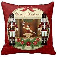 DEFFWBb Christmas Nutcracker Ballerina Decorative Pillow Case by