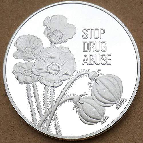 Yoin Münze Kunst 1PC Vereinten Nationen Stop Drogenmissbrauch UNO und Dauerhafte Mitglieder Medaille Frieden Splitter Münze Sammlung Geschenk