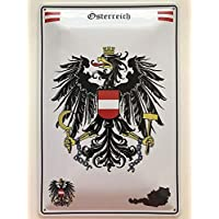 Tirol Österreich Wappen Blechschild Schild gewölbt Metal Tin Sign 20 x 30 cm