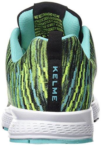 Kelme Unisex-Erwachsene 63212 Gymnastikschuhe Mehrfarbig (Negro / Verde)