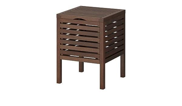 Ikea sgabello da bagno con conservazione molger marrone scuro