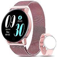 NAIXUES Smartwatch, Reloj Inteligente IP67 con Presión Arterial, 8 Modos de Deporte, Pulsómetro, Monitor de Sueño, Notificaciones Inteligentes, Smartwatch Hombre Mujer para iOS y Android (Rosa)