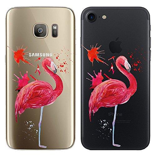 Blitz® TAKE IT EASY motifs housse de protection transparent TPE caricature bande iPhone Fuck you M13 iPhone 5 Flamingo painting M15