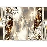 murando - Fototapete 500x280 cm - Vlies Tapete -Moderne Wanddeko - Design Tapete - Abstrakt Blumen Lilien a-C-0041-a-b