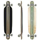 Clamaro Longboard HULAHU 43 inch Komplettboard aus 9 Lagen Canadian Ahornholz Deck mit ABEC 7 Kugellager, 85A Rollen und Griptape, Grün