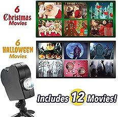 Christmas Halloween Wand Fenster Projektion Lichter Film LED Garten Video-Player