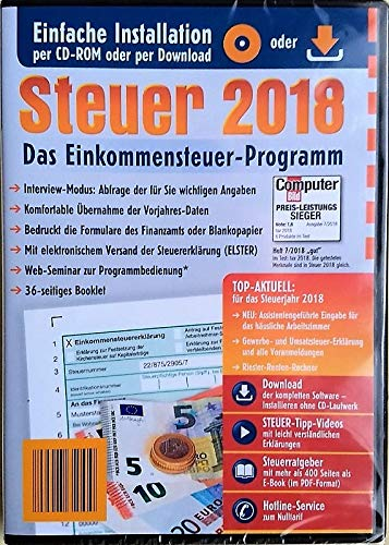 Aldi Steuerprogramm 2018 Einkommenssteuer - Steuer 2018 CD