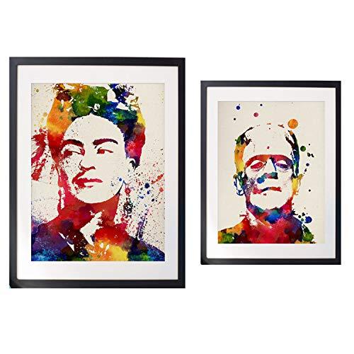Nacnic Pack láminas enmarcar Frida Y Frankenstein
