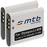 2x Baterías Li-90b para Olympus Stylus SH-50,SH-60, XZ-2 / Tough TG-1, TG-2, TG-3