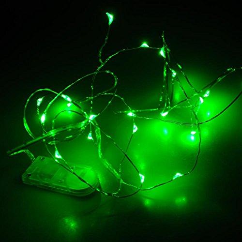 2M 20 LED Partybeleuchtung Lichterkette Batteriebetrieben Kupferdraht wasserdicht, Grün