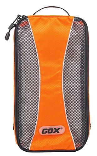 Reisen Schuhe Box,GOX Premium-420D Nylon tragbaren Schuhkarton-Beutel-Speicher / Gepäck Verpackung Würfel / Reiseveranstalter mit Haken (Orange) (Orange Beutel Würfel)