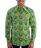 70er Jahre Party Hemd Dots grün 3XL