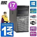Dell PC Tour 7020 Intel Core i7-4790 RAM 8Go SSD 480Go Windows 10 WiFi...