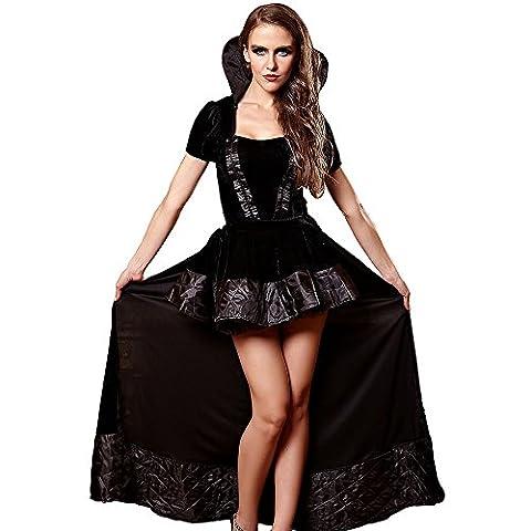 Cody Lundin La reine Dress Fancy Dress Cosplay Costume pour Ladies Halloween Costume (M, noir)