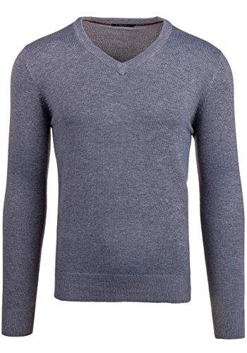 BOLF Herrenpullover Pulli Sweatshirt Sweatjacke Sweater Top MIX Grau_896