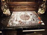 Piano di cottura in vetroceramica Copertura in vetro 2x30x52cm paraspruzzi piano cottura piano di cottura piastra di copertura della stufa (Spezie versate)