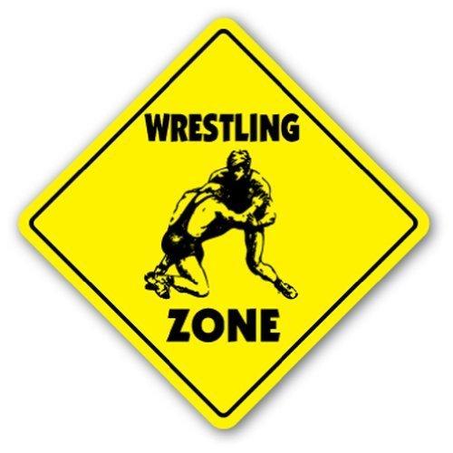 ld Wrestling Zone Sport Wrestler Team Coach Award Trophäe Uniform Metall Geschenk Schild Wandschild Dekoration ()