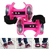 #2: Wembley Toys Street Gliders Roller Skates, LED Light-up Wheels (2 Wheels) (Pink)