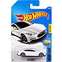 Hot Wheels 2017 Factory Fresh Tesla Model S White 175/365 (Long Card)