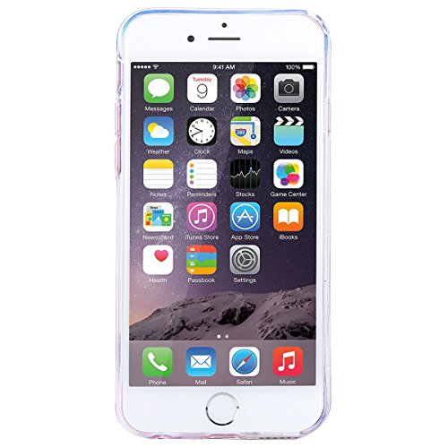 GrandEver iPhone 6/iPhone 6S(4.7 Zoll) Hülle Weiche Silikon Handyhülle TPU Bumper Schutzhülle für iPhone 6/iPhone 6S(4.7 Zoll) Rückschale Klar Handytasche mit Regenbogen Muster Anti-Kratzer Stoßdämpfu Color C