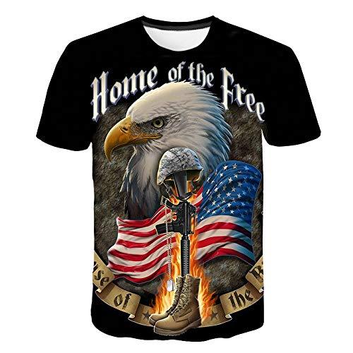 XMDNYE Eagle Gedruckt 3D T-Shirt Männer Banner Kurzarm Shirt Hip Hop Männer Frauen Adler T Hemd
