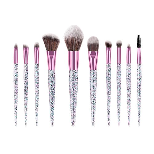 AMUSTER 10 Make-up Pinsel-Set Pinselset Schminkpinsel Kosmetikpinsel Kosmetik Brush Rubber...