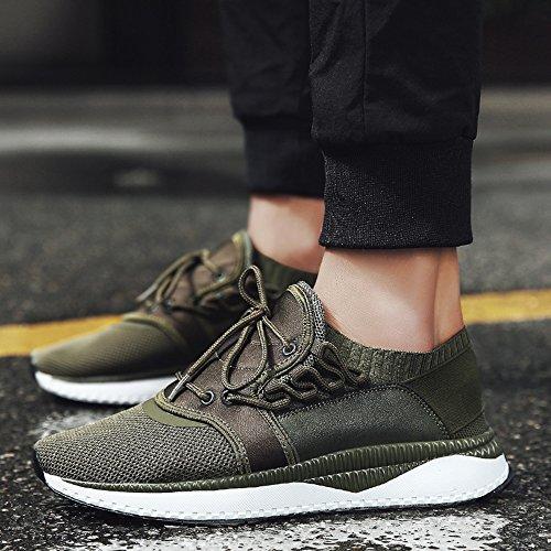 Feifei Hommes Chaussures Printemps Et Automne Loisirs Mesh Respirant Chaussures De Course 3 Couleurs (couleur: Blanc, Taille: Eu / 41 / Uk7.5-8 / Cn42) Vert