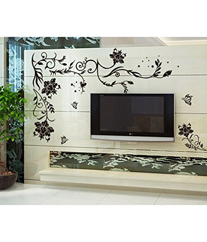 Decals Design 'Butterflies Corner' Wall Sticker (PVC Vinyl, 90 cm x 60 cm)