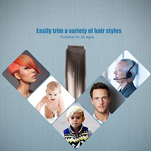 inkint Professionnelle Rechargeable Coupe-cheveux Electrique Ergonomique Design Tondeuse à Cheveux Machine de Coupe de Cheveux Pour Hommes/Bébé/Enfants Peigne de Tondeuse Peut être Ajustée