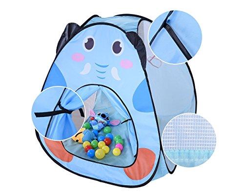 DSstyles Pop Up tente de jeu Tente d'enfants Playhouse pour enfants avec basketball pour enfants Jeu d'intérieur et extérieur pour enfants - Bleu