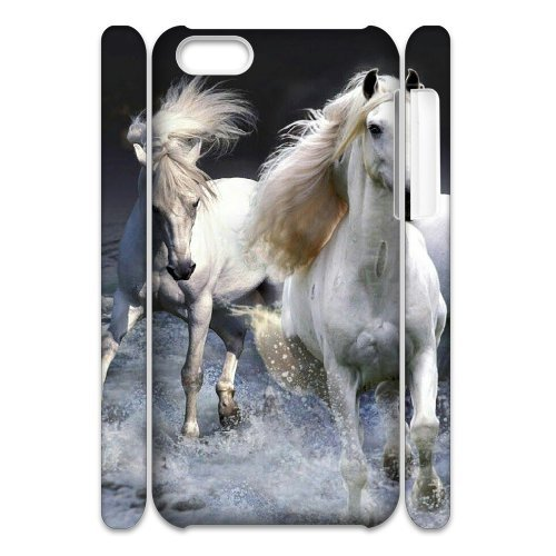 Chinese Running horse Cheap 3D Hard Back Cover Case for iPhone 4,4G,4S,diy Chinese Running horse Cell Phone Case