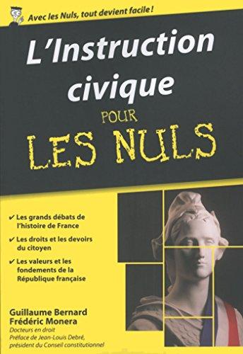 L'instruction civique Pour les Nuls, édition poche epub, pdf