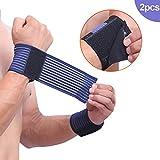 Hrph 2 Pcs Gewicht Lifting Sport Wristband Gym Fitness Handgelenk Wraps Bandage Training Brace Sicherheit Hände Bands