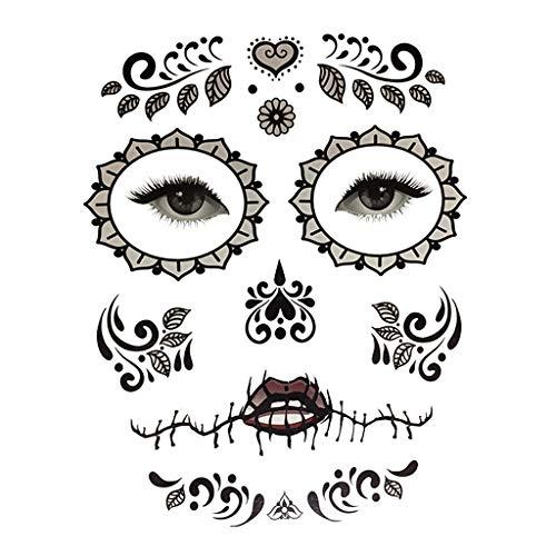 (P PRETTYIA Halloween Temporäre Tattoos Kinderschminke Aufklaber Kostüm Makeup Stützen - 4)