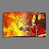 Feuerwehr Designer Wanduhr modernes...