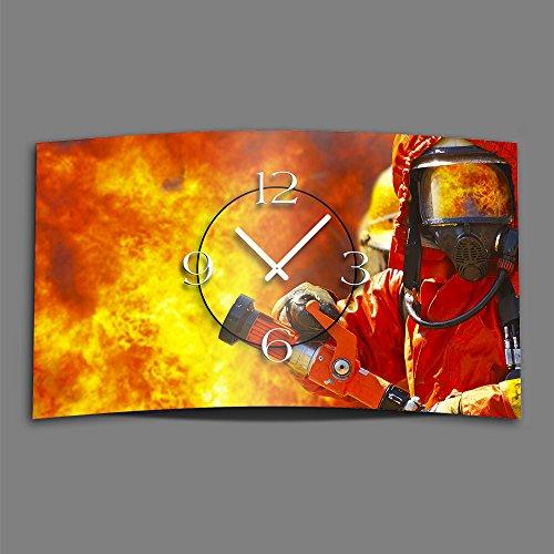 feuerwehr wanduhr Feuerwehr Designer Wanduhr modernes Wanduhren Design leise kein ticken dixtime 3DS-0062
