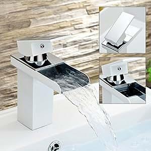 Auralum rubinetto moderno rubinetto miscelatore monocomando gegrillter colore bianco - Lavabo cucina moderno ...