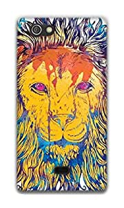 The Racoon Grip Lion Watercolor hard plastic printed back case / cover for Sony Xperia Miro
