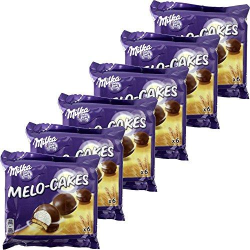 Milka Melo-Cakes 6 Packungen á 6 Stck. (Schaumzucker & Keks)
