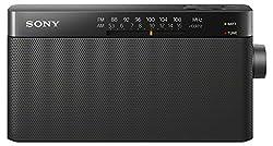 Sony Icf-306 Portable Amfm Radio - Black